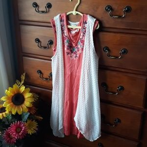 Knit Works 2pc. girls boho dress